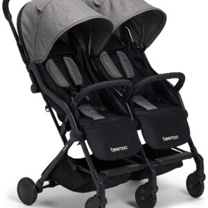 Beemoo Easy Fly Double Syskonvagn, Grey Melange