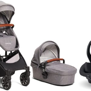 Beemoo Maxi 4 Twin inkl. Modukid Infant Babyskydd, Grey/Black