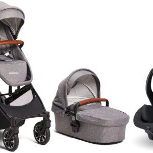 Beemoo Maxi 4 Twin inkl. Modukid Infant Babyskydd, Grey/Black
