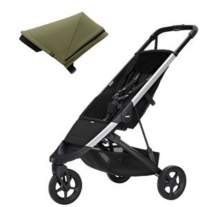 Thule Spring Barnvagn Aluminium/Olive one size